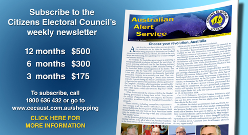 Click here to download a free copy of the Australian Alert Service, the CEC's weekly publication