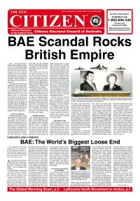 BAE Scandal Rocks British Empire