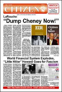 The New Citizen Extra; LaRouche: Dump Cheney Now!