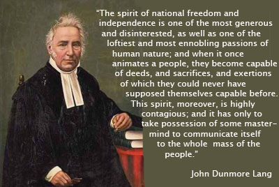 Great Australian political figure: John Dunmore Lang